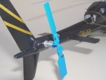 detail  imitace náhonu  vyrovnávací ocasní vrtulky na modelu