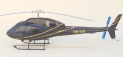 Model  vrtulníku AS 355N Ecureuil OM -IKM na stole